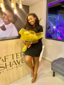 Betty Kyallo at the launch of After Shave by Flair on February 4, 2021