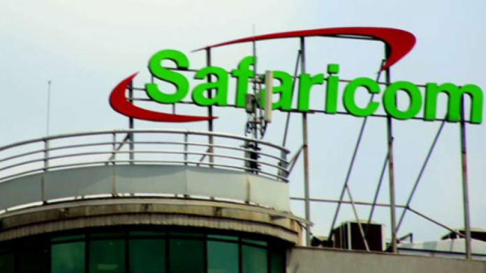 The Safaricom logo displayed at the company's headquarters in Nairobi. The telco is facing a backlash from customers over newly introduced terms and conditions for its home fibre service.