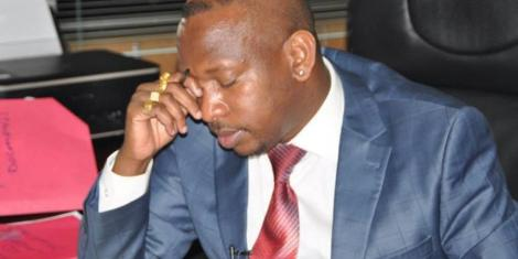 Former Nairobi Governor Mike Sonko at a past function. He broke down in court on February 3, 2021.