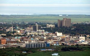 Aerial view of a section of Kisumu