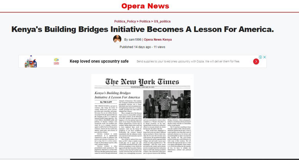 opera news fake page