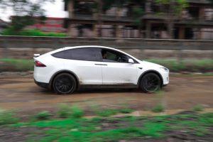 Jayesh Patel's Tesla Model x 75D on the streets of Nairobi