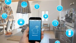 Depiction of smart home technologies