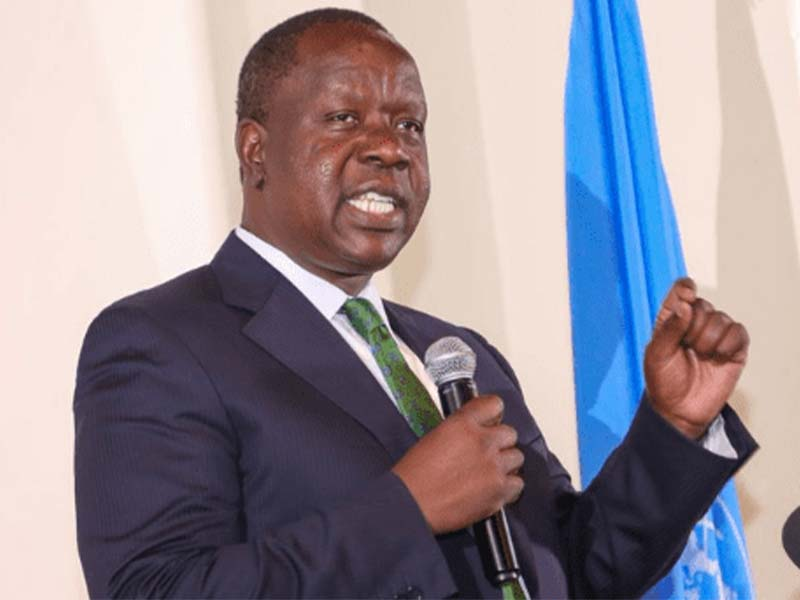 Interior CS Fred Matiang'i speaking at a past event