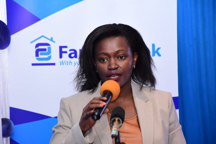 Family Bank CEO Rebecca Mbithi speaking at a past forum. The group's profit before tax rose 1.3% in the 2020 FY compared to 2019.