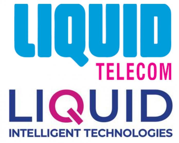 Liquid Telecom's old logo juxtaposed with its new identity