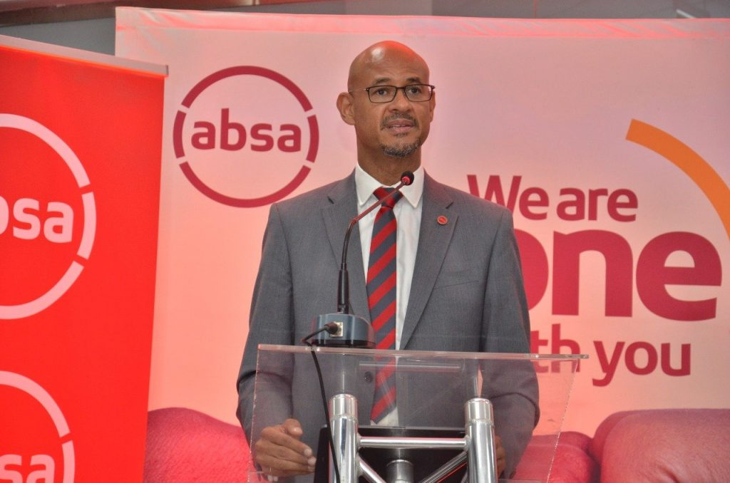 Absa Bank Kenya Managing Director Jeremy Awori at a past event, The management took decisive action to increase provisions in order to take the best position for future potential credit losses.