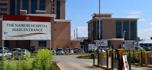 The entrance at Nairobi Hospital. Kenya has the potential to be a leading medical tourism destination.