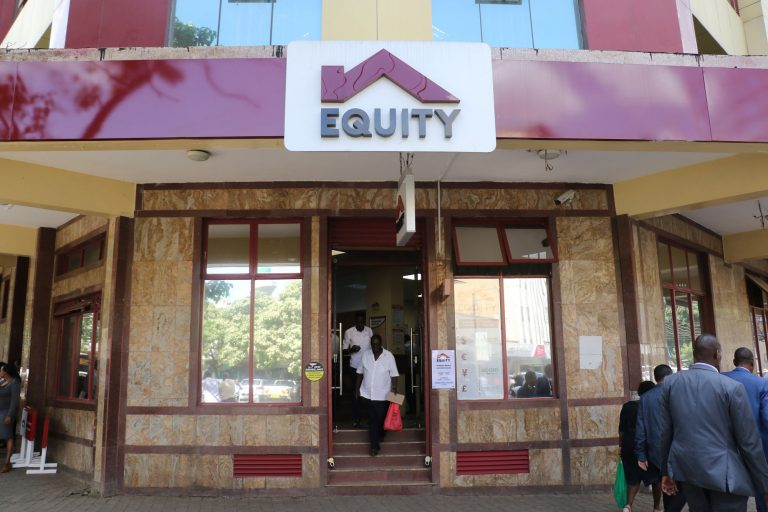 An Equity bank branch in Kenya. It became the first bank in Kenya with a Ksh1 trillion asset base in December 2020.
