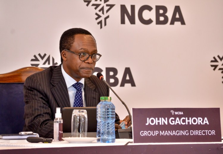 NCBA Group MD John Gachora. In 2020, the firm implemented a robust cost containment plan that reduced operating expenses and contributed to the operating profit increase.