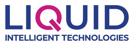Liquid Intelligent Technologies' new logo. The firm's new brand identity is meant to reflect diversification of its services.