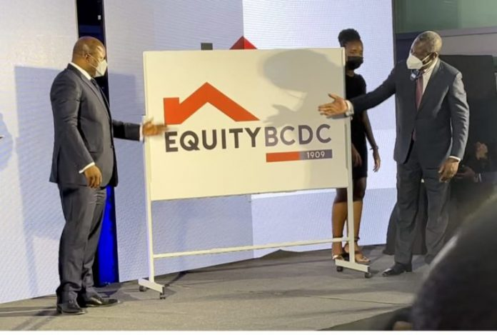 Equity Group Managing Director Dr. James Mwangi unveiling the Equity BCDC brand identity in Kinshasa on February 11, 2021. The group saw profits fall in 2020 even as significant growth was witnessed in deposits and assets.Equity Group Managing Director Dr. James Mwangi unveiling the Equity BCDC brand identity in Kinshasa on February 11, 2021. The group saw profits fall in 2020 even as significant growth was witnessed in deposits and assets.