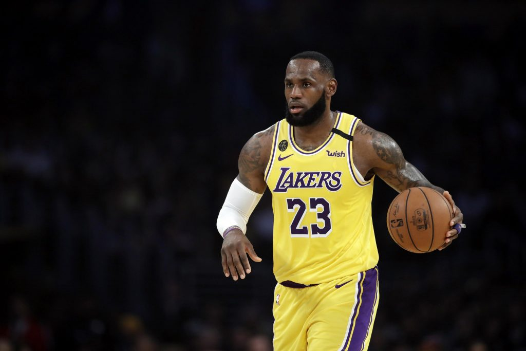 Lebron James in a past appearance for the Lakers