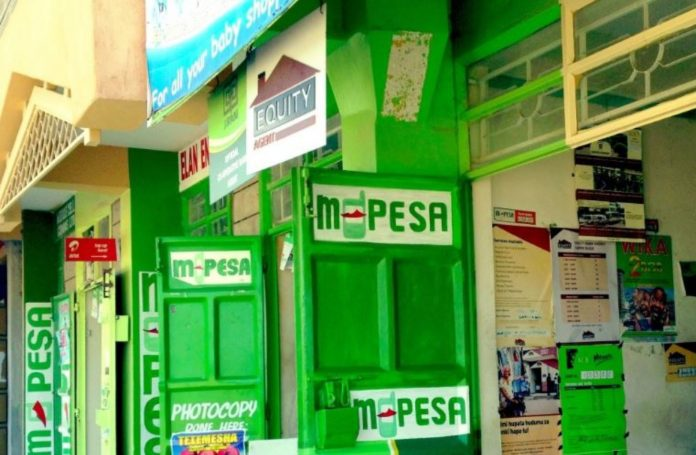 M-Pesa shops pictured in Nairobi. A bill before Parliament, if it sails through, would see Safaricom's telecommunications and mobile money divisions split up.