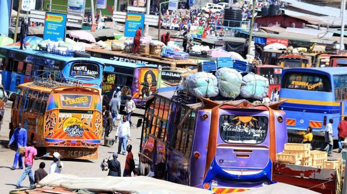 The Machakos Country Bus Terminal in Nairobi. A multi-storey parking lot is to be constructed at the iconic location.