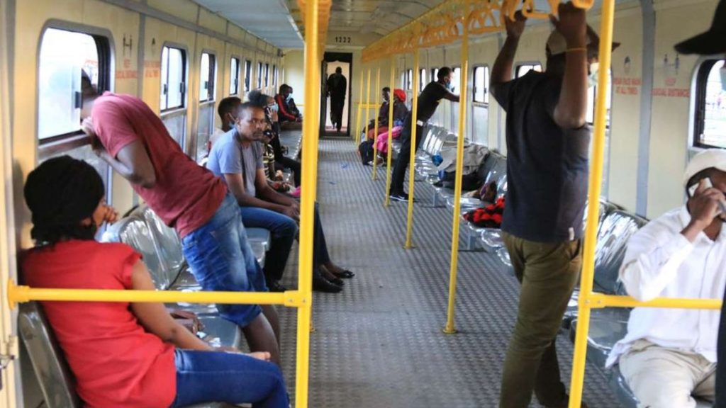 PassenPassengers aboard a train at Kiganjo town in Nyeri County on December 11, 2020. KRC has in the past year stepped up efforts to revamp its railway network. (Photo: NMG)gers aboard a train at Kiganjo town in Nyeri County on December 11, 2020. KRC has in the past year stepped up efforts to revamp its railway network. (Photo: NMG)