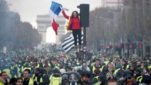 'Yellow Vest' protesters hit the streets in France. After only a few weeks of demonstrations, theFrench retail federationreported that retailers nationally had lost $1.1bn in revenue.