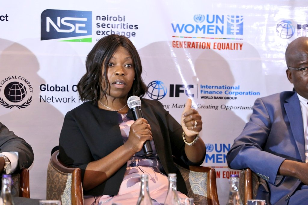 Ednah Otieno at a past summit. She described her promotion as historic.