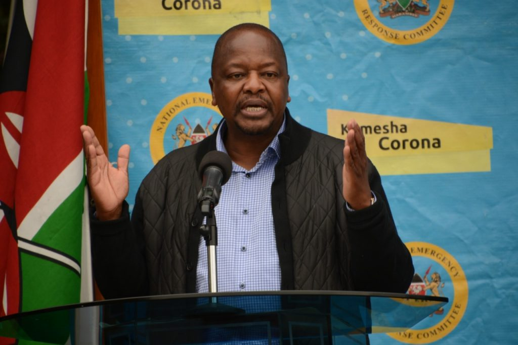 The directive restricting entry for travelers from India was announced by Health Cabinet Secretary Mutahi Kagwe.