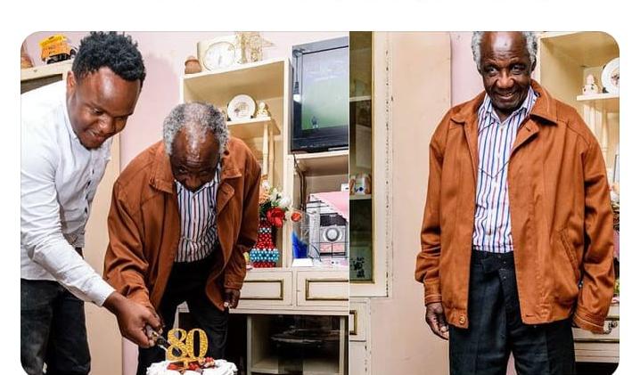 Philip Ochieng Celebrating his 80th birthday