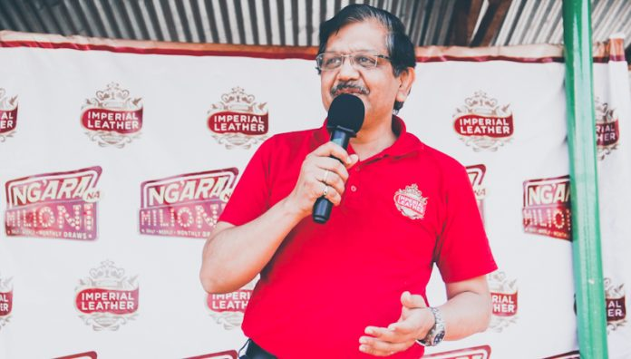 PZ Cussons EA MD Sekar Ramamoorthy at a past event. The firm adapted to the pandemic in various ways, including establishing the world's first manufacturing plant for Carex hand sanitizer in Kenya. (Photo: Twitter)