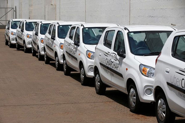 Uber ChapChap vehicles pictured in Nairobi. The service, as well as Uber Eats for food delivery will be available in Nakuru.