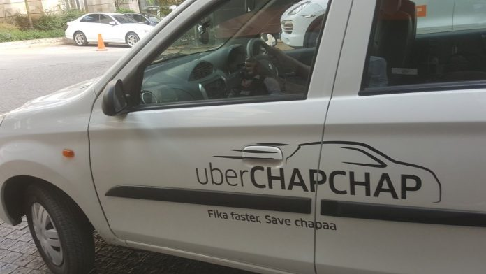 An Uber ChapChap vehicle. Drivers are threatening to delete the app after fuel price increases impacted their earnings.