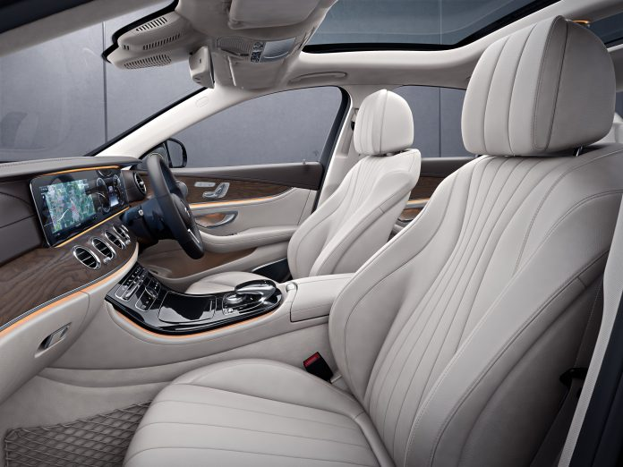 Inside the Mercedes Benz E-Class. Sold by DT Dobie, the brand posted a strong performance in Q1 2020 even as luxury car sales in the industry fell significantly.