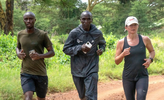 World Marathon record holder Eliud Kipchoge. He will be among participants in this year's Lewa Safari Marathon which will be held virtually for the second year in a row.