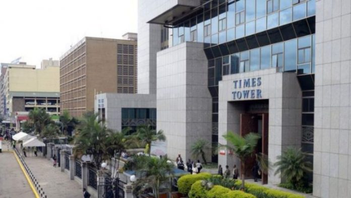 Kenya Revenue Authority (KRA) Headquarters at Times Tower, Nairobi. According to the taxman, introduction of new digital channels such as the M-Service app is meant to enhance taxpayers' experience. (Photo: Twitter)