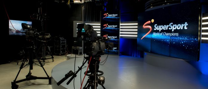 Inside a SuperSport studio. The broadcaster concluded a broadcast deal with FIFA that will see all World Cup 2022 games aired live.