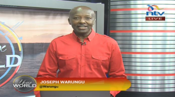 Joseph Warungu hosting a past episode of the NTV morning show 'Your World'. As Managing Editor, Broadcast he will be responsible for assets including NTV and Nation FM.