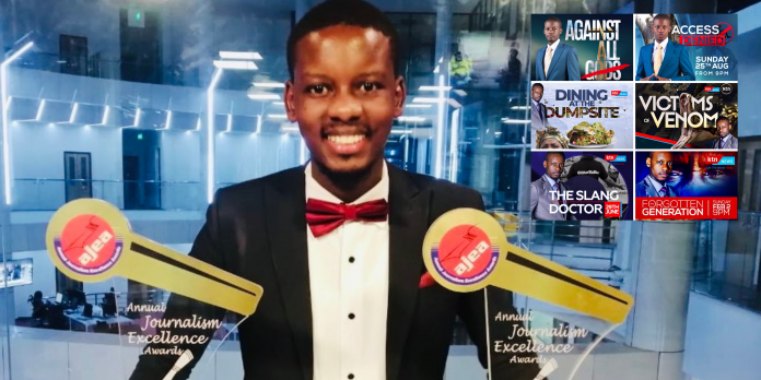 Timothy Otieno won 2 awards at the Media Council of Kenya (MCK) 2021 Annual Journalism Excellence Awards (AJEA) including Journalist of the Year.
