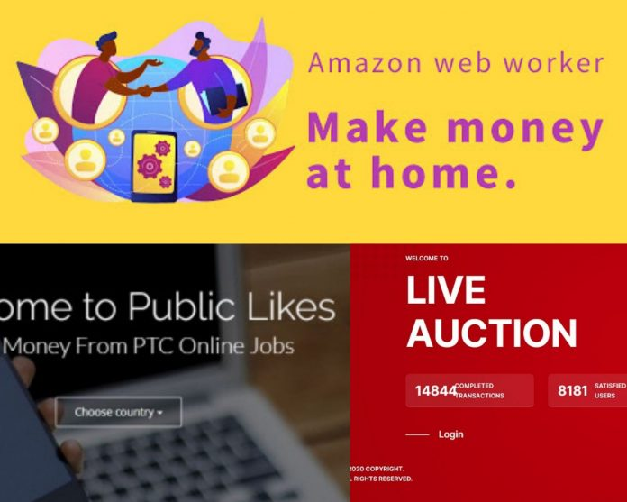 Amazon Web Worker, Public Likes and Live Auction are among the most well-known online scams to fleece Kenyans in recent years.