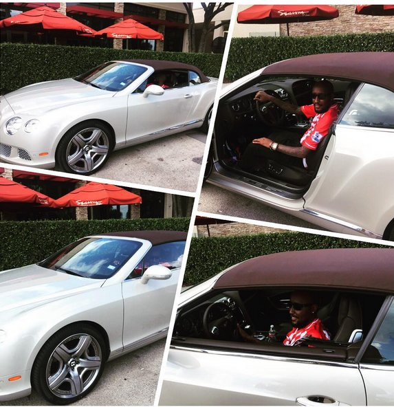 Shaffie Weru pictured in his Bentley. He is a fan of fast bikes and luxury cars.