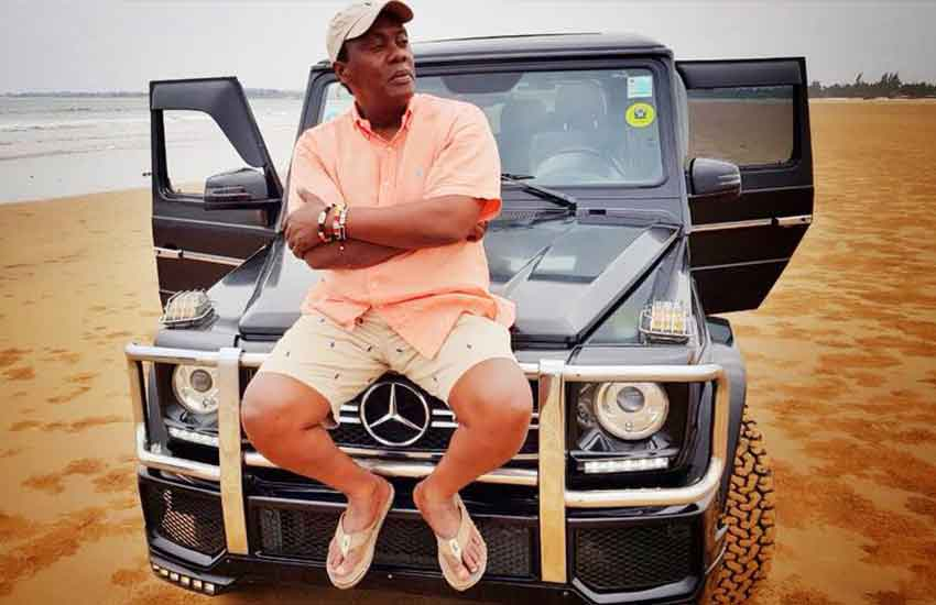 Citizen TV's Jeff Koinange pictured with his Mercedes Benz G-Class.