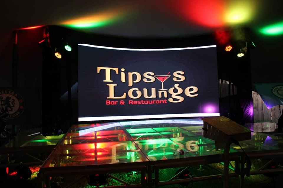 A section of Tipsy's Lounge branded for a past event. [Photo/ Tipsy's Lounge]