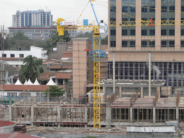 A construction site in Nairobi. Several projects have been put on hold following suspension of the online application system for approval of plans by the Nairobi Metropolitan Services (NMS). [Photo/ CCE]