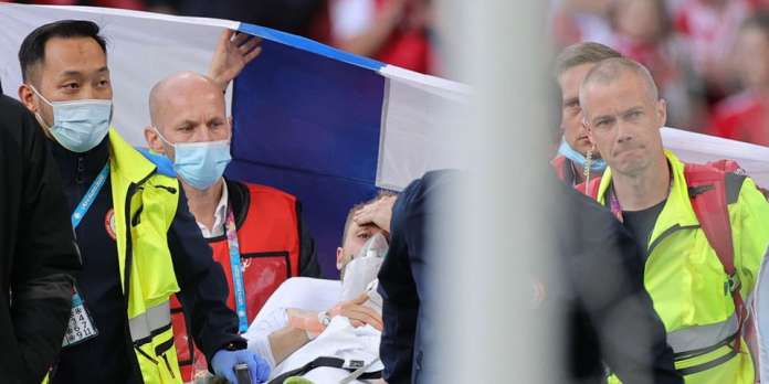 Player collapses during Euro 2020 match