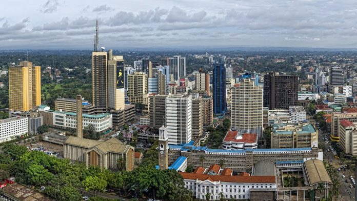 View of a section of Nairobi.