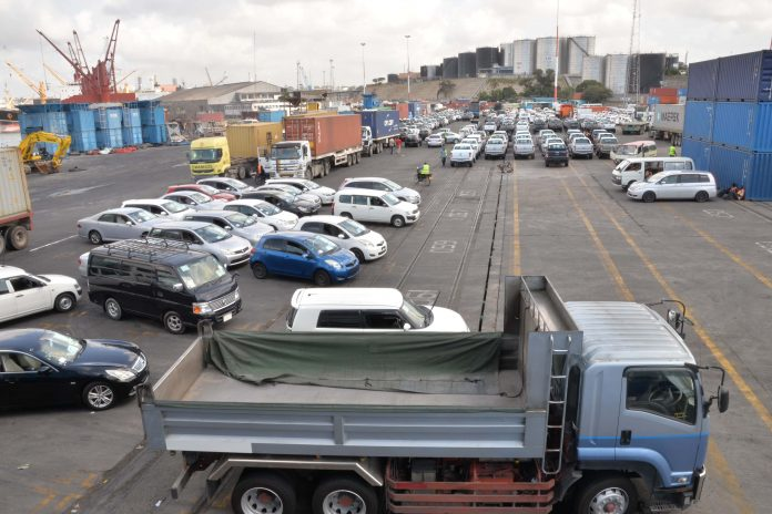 Vehicles at the Port of Mombasa. The first two-day auction at the Port will be held by the Kenya Revenue Authority (KRA) on June 23 and 24, 2021. [Photo/ Kenya Ports Authority ]