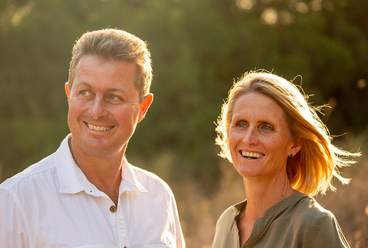 Mikey and Tanya Carr-Hartley. Giraffe Manor has been featured in a number of shows including by Netflix and the BBC.
