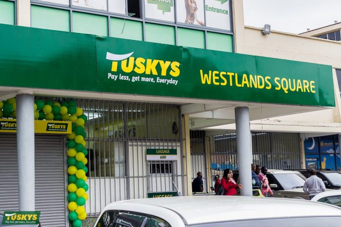 Tuskys Supermarket Westlands Square branch opened in 2018. The cash-strapped retailer has seen its network of stores shrink from over 60 to just 7. [Photo/ Tuskys]