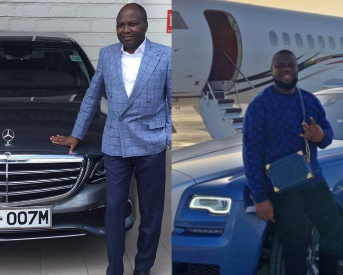 Donald Kipkorir (l) and Ramon 'Hushpuppi' Abbas (r). Court documents ordered unsealed in California on July 28, 2021 show Hushpuppi pleaded guilty to charges of money laundering, and now faces up to 20 years in prison in addition to paying restitution to victims of various fraudulent schemes.