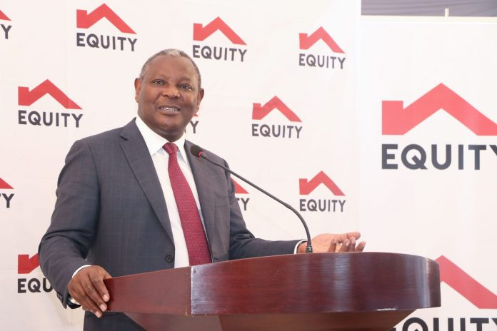 Equity Group CEO James Mwangi. The firm unveiled its new brand identity in DRC, Equity BCDC, in February 2021. [Photo/ RMS]