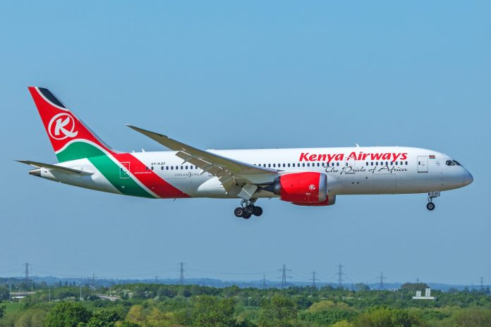 In the first half of the year, KQ pursued new opportunities to raise revenues in the wake of low demand in the passenger business. [Photo/ Airline Geeks]