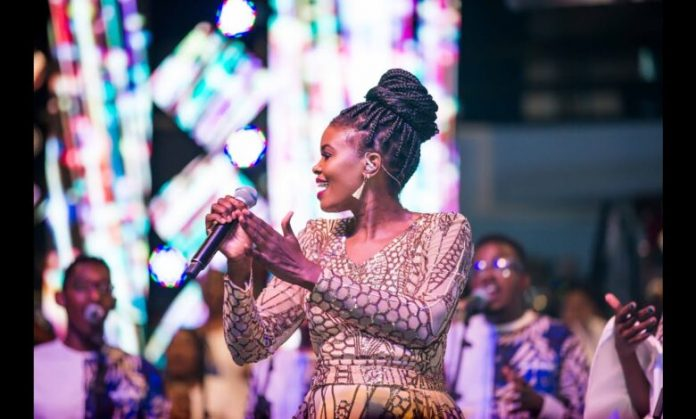 Gospel artist Eunice Njeri during a past live performance. In 2015, she opened up on how her music raked in as much as Ksh24 million a year from Safaricom's Skiza Tunes platform, although she accused third-party content providers of taking advantage of artists including herself with exploitative contracts.