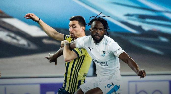 Johanna Omolo in action for BB Erzurumspor. Turkish Lig 1 side Kocaelispor confirmed his signing on August 4, 2021.