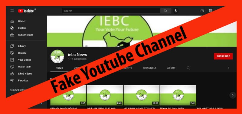 IEBC Youtube channel 2