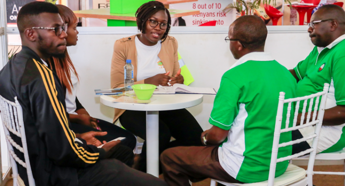 An IRA officer during a past sensitization activity. Insurance Agents will need to access the IRA Online Portal www.ira.go.ke in order to apply for renewal of registration as well as update their profile where necessary. [Photo/ IRA]